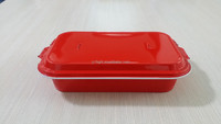 Disposable colorful aluminum container for food packaging