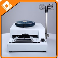 high quality manual embossed number machine for pvc card
