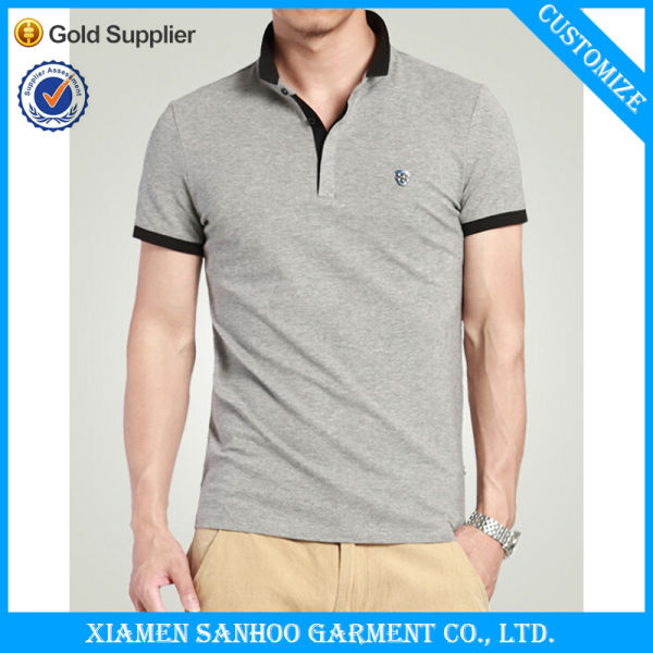 Pique 100% Cotton Custom Polo Shirts With Embroidery Logo
