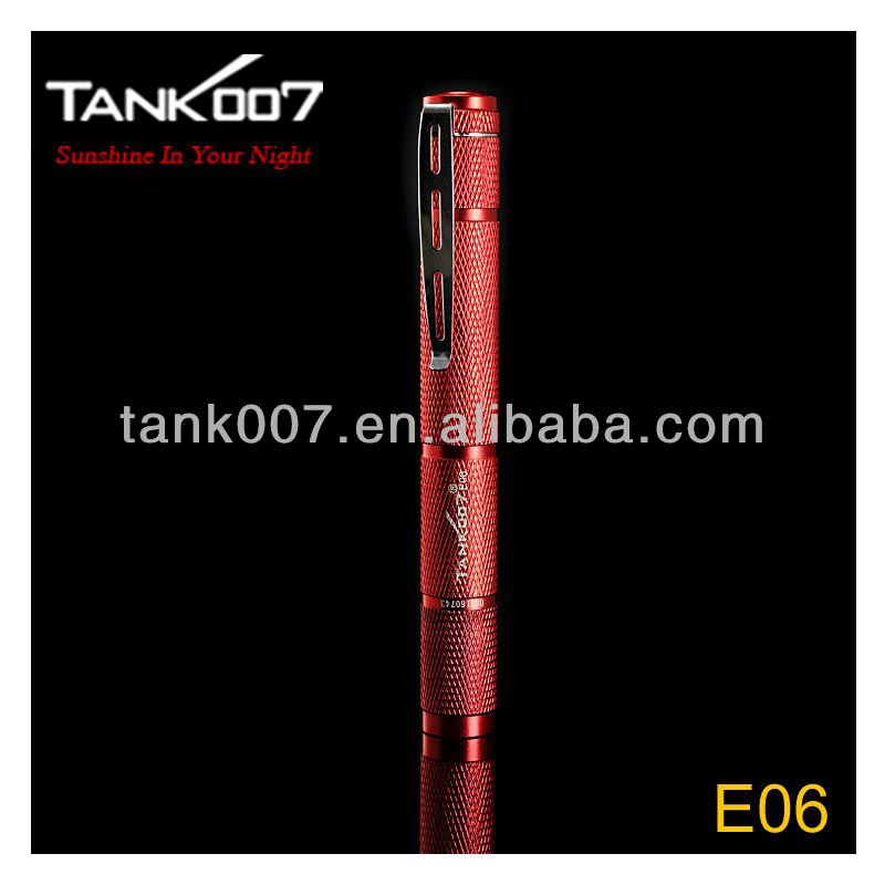 Extensible LED Flashlight with laser torch pen TANK007 E06