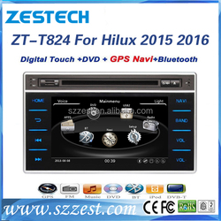 ZESTECH hot sale OEM 8 inch car entertainment system for Toyota Hilux car dvd with gps