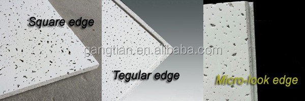decoration mineral fiber ceiling mineral ceiling board soundproof mineral fiber board