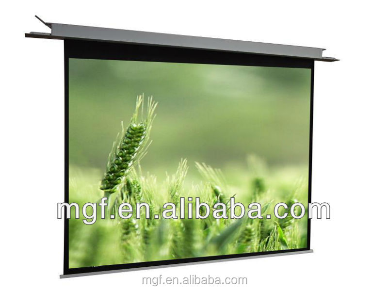 In ceiling mounted electric projection screen/projector screen with remote control used for education