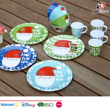 Best Selling reusable christmas melamine plastic dinnerware