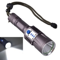 L2,T6 tactical flashlight aluminum 1000 lumen 10W USB 18650 rechargeable led flashlight