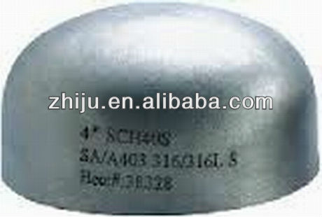 "SA/A403 4"" SCH40S Pipe Fitting Stainless Steel Made in China Seamless Cap"