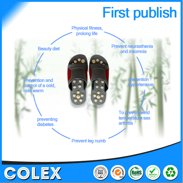 Wholesale foot massager shoes natural bamboo bead,Healthy care shoes,rubber slippers,