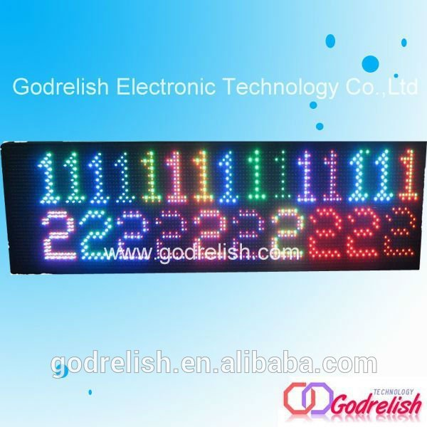 Plastic bus led destination sign with high quality
