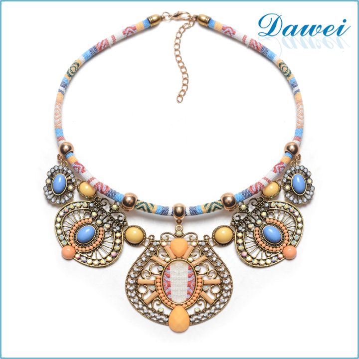 Modern Hippie Vintage Bib Beads Choker Necklace Tribal Ethnic Boho Mujer Accessory
