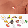 Cartoon teeth heart brain eye collar cuff needle brooch pin thailand brooch(SWTJU3267)