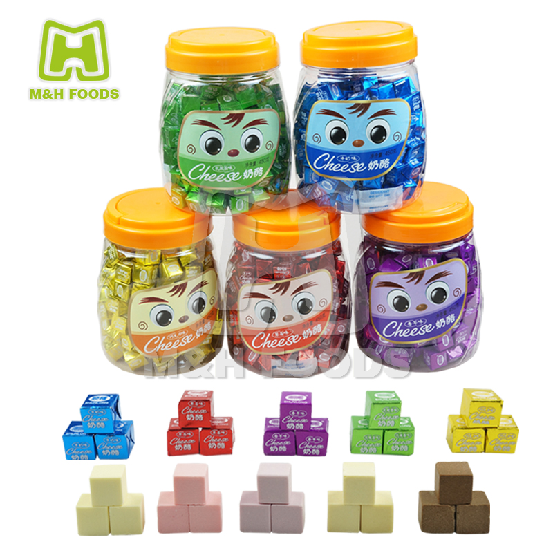Five Flavours Cube Cheese Milk Pressed Candy
