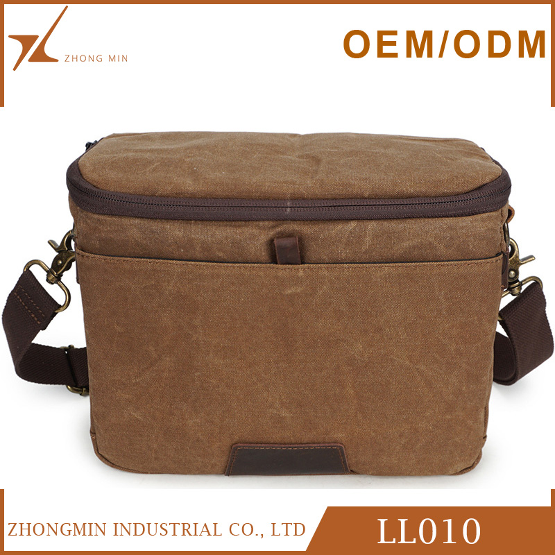 New design fashion mens canvas camera shoulder bag