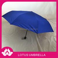 China Umbrella Factory made 190T Pongee fabric silver tape sun proof golf umbrella