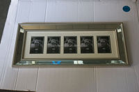 all silver bead molding multiple open picture collage mirrored photo frame