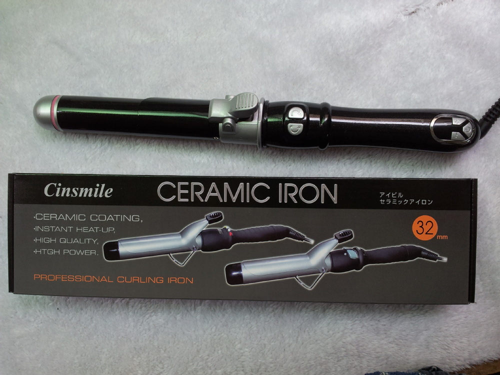 Digital ceramic auto rotary barrel hair curler LM-030