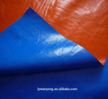 blue/orange covering PE tarpaulin, truck cover plastic canvas tarpaulin, waterproof protective poly tarp