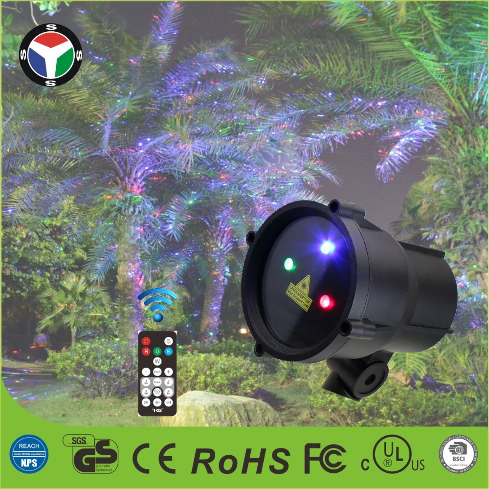 Remote control red green blue dots Waterproof Projection Lamp Christmas Laser projector Light