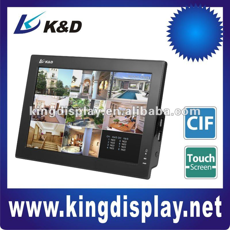 "4/8 CH H.264 Economical 10"" LCD Combo Standalone Network DVR"