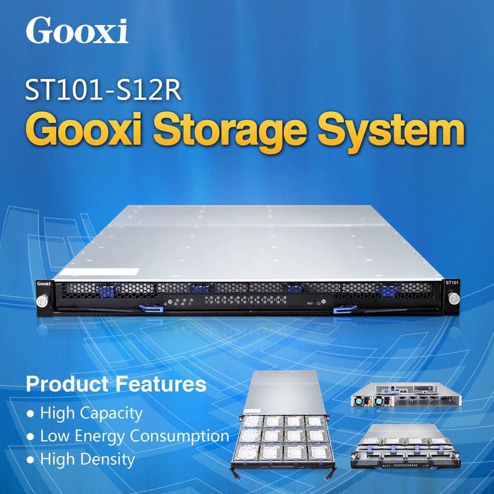 1u 12 bays Server High density Gooxi ST101-S12R JBOD Hot-swap Xeon E3 V3 motherboard server rack 12bay barebone cloud server