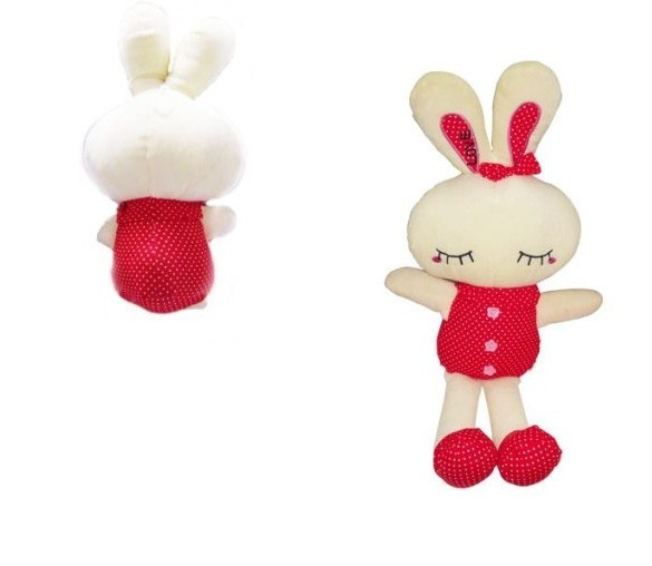 Adorable sleeping <strong>rabbit</strong> girls favorite childhood memory soft plush toy