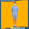 Short sleeve surgical isolation medical blue patient disposable gowns