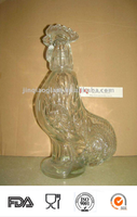 Chanticleer Shaped Glass Fancy Bottle