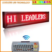 "40""X6"" STRONG ALUMINUM ALLOY FRAME MULTI COLOR WINDOW DISPLAY WIRELSS LED LIGHT MESSAGE SIGN"