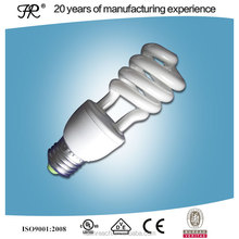 Half spiral edison E27 energy saving light bulb