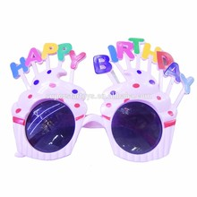 5160617-18 Happy birthday cake with candle shape glasses, birthday party favor plastic glasses