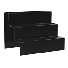 Top Grade Store Supplies Acrylic Black 3 Step Counter Display Stand