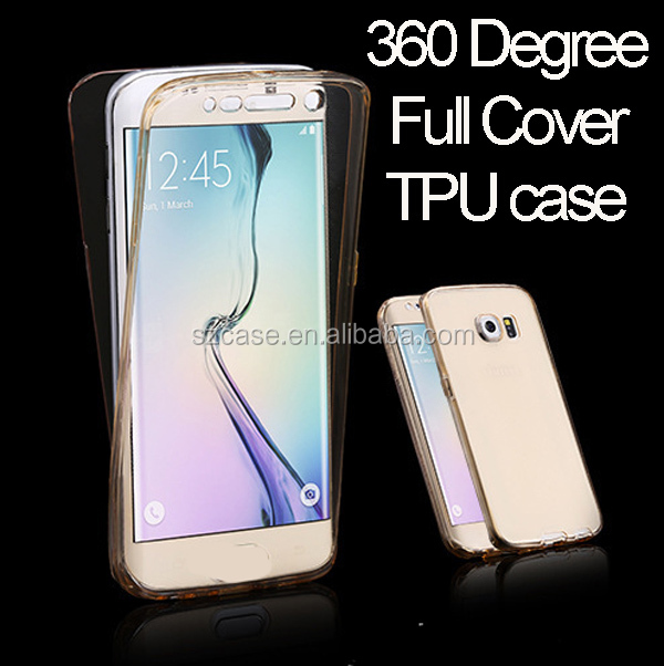 Front and Back Two Pieces Clear Soft Shockproof 360 Degree Full Body TPU Gel Case for Samsung Galaxy S7 Edge