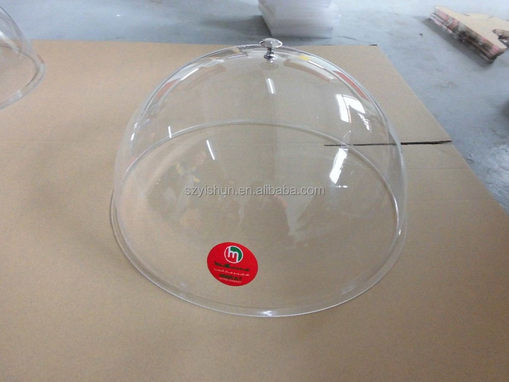 wholesale acrylic food cover acrylic cakes covers with round shaped.