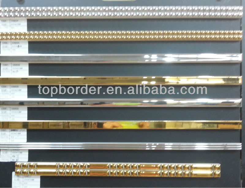 golden/silver listello 600x20mm mirror