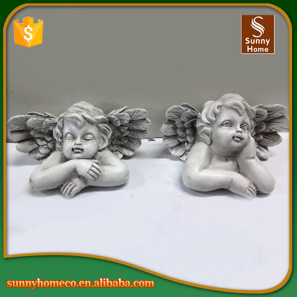 Home decoration polyresin wholesale small craft baby angel figurine