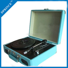 Protable Retro Suitcase Vinyl Turntable with mp3 play