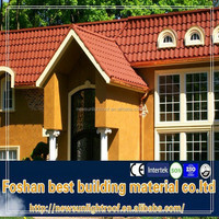 dark color tile / colorful stone chip coated steel roof tile / lowes metal roofing cost