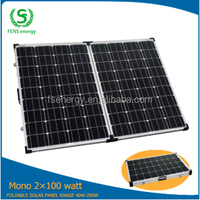 200 watt mono foldable solar panel charger, solar panel energy mounting rack for home, caravan, camper, boat and home