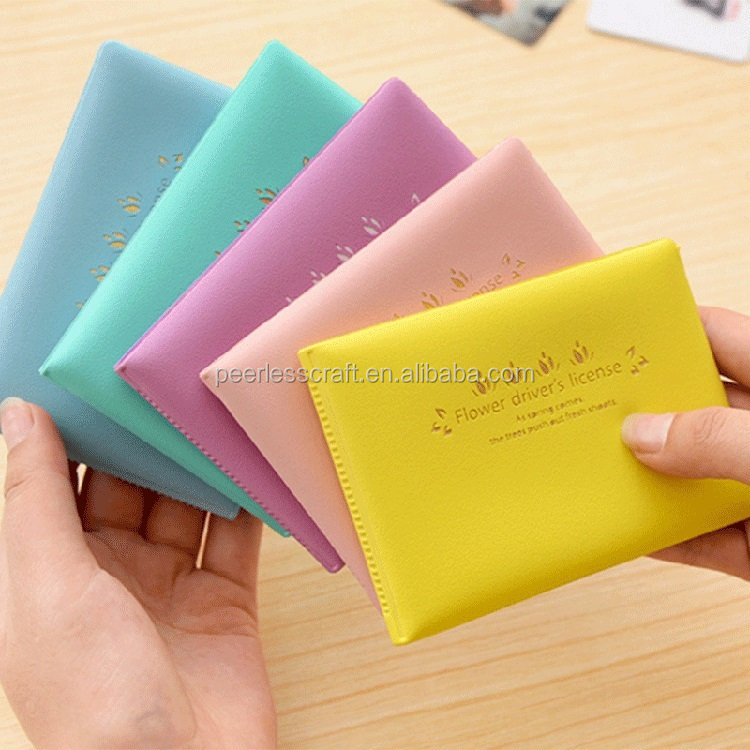 Floral Macaron Plastic Card Holder Korea PVC Driving License Card Holder