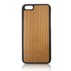 Blank cherry wood PC phone case for iPhone 5C wooden mobile cover