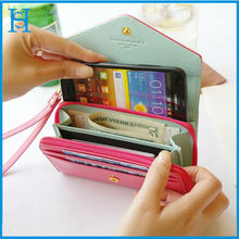 Fashion multifunction wallet leather pouch case for apple iphone 5 5s