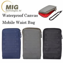Waterproof Canvas waist bag for samsung for iPhone mobile accessories for general mobile 4g phone bag case