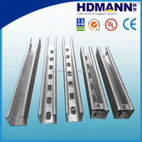 Slotted strut channel C channel