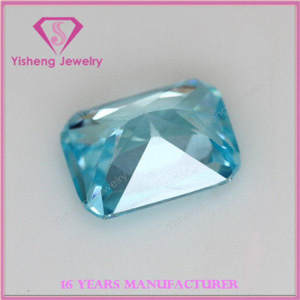 Natural Ocean Blue Loose Synthetic CZ Gemstone Wholesale China