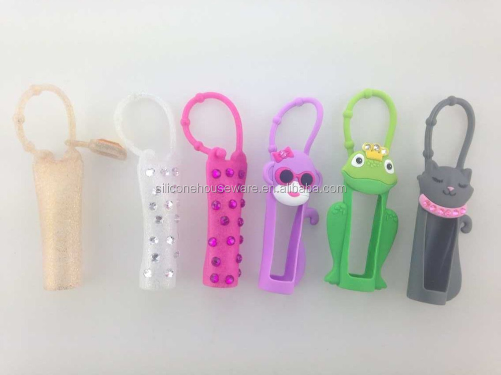 colorful silicon products china manufacturer cute lip balm container