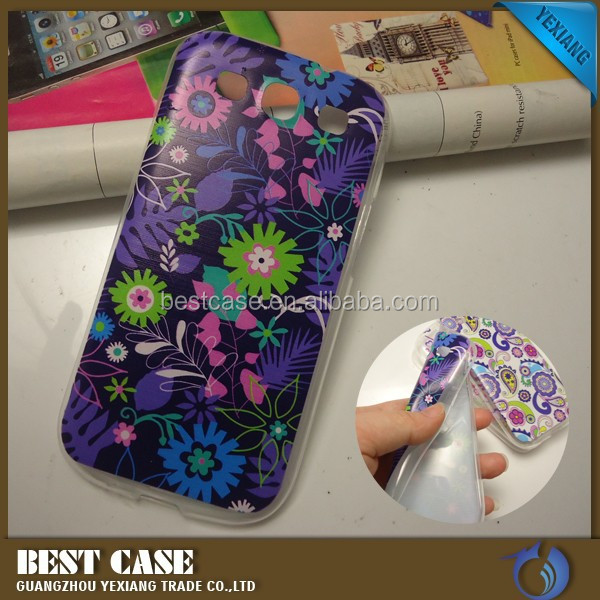 Colorful flower design back cover tpu Case For Samsung galaxy S3