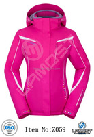 Women fitted fashion ski and snow jacket