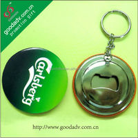 Beer promotional gifts round shape Diameter 58mm bottle opener key chain