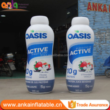 Factory price custom giant inflatable advertising drink bottle model for sale