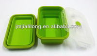 Silicone pet food storage container