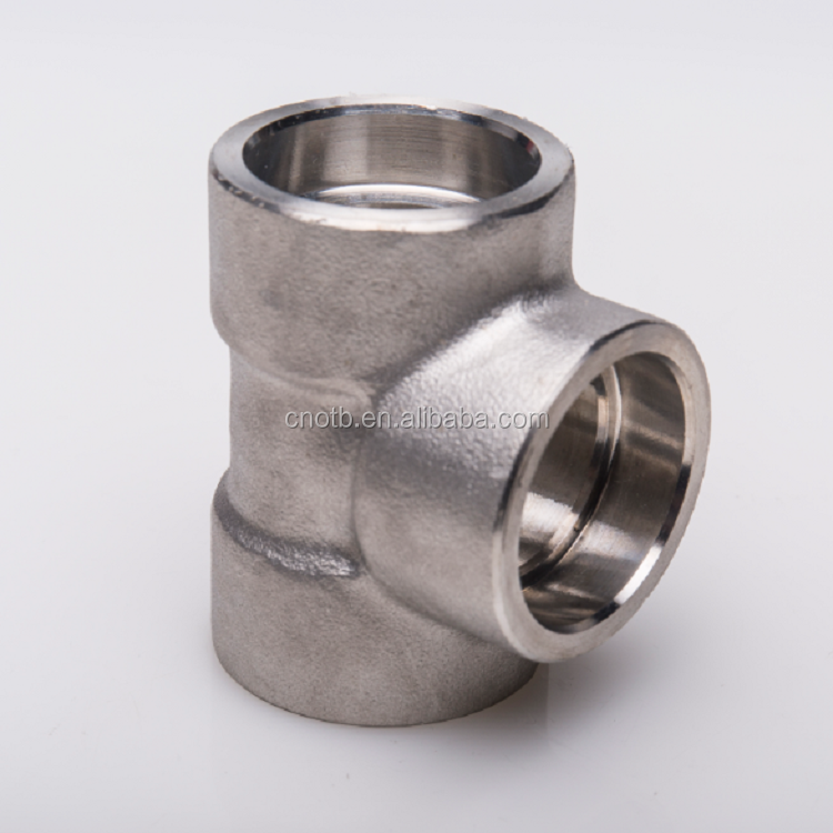 Galvanized forged muff steel pipe fitting tee